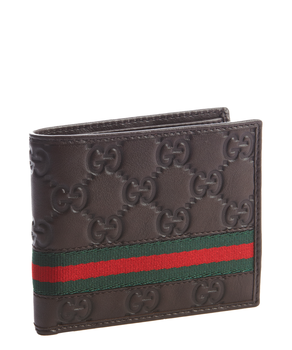 Gucci Bifold Wallet Signature Web Brown/Red/Green
