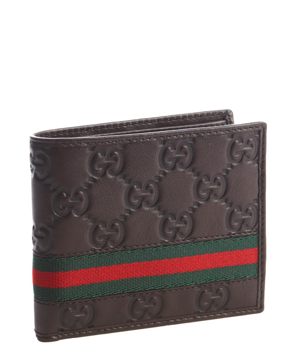 Gucci Bifold Wallet Signature Web Brown