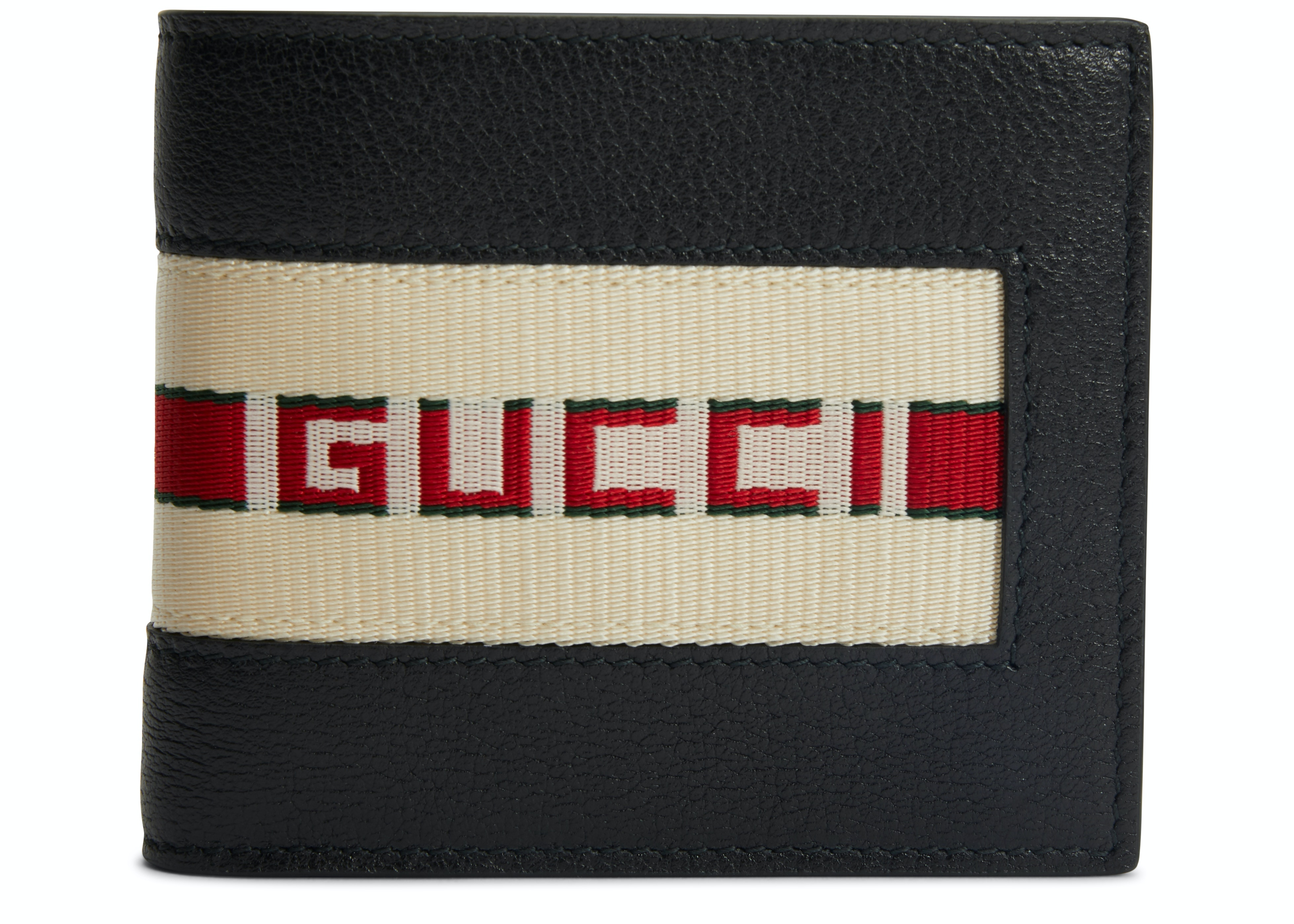 Gucci Bifold Wallet Stripe Logo Black