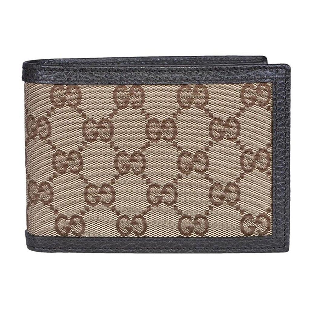 Gucci Bifold Wallet GG Supreme Beige Ebony