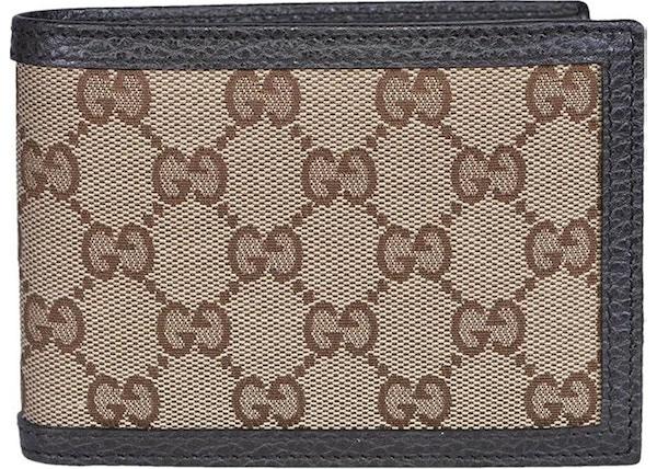 193163842d8 Gucci Bifold Wallet GG Supreme Beige Ebony