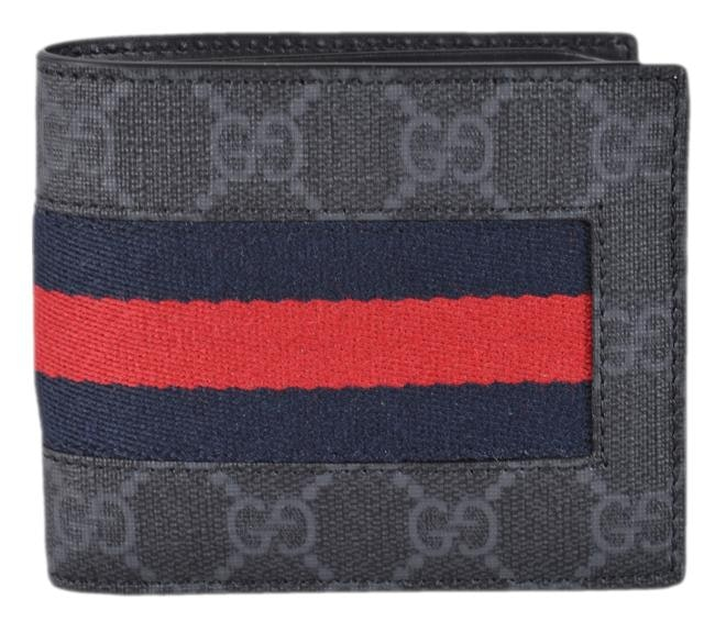 Gucci Bifold Wallet Supreme Web Black