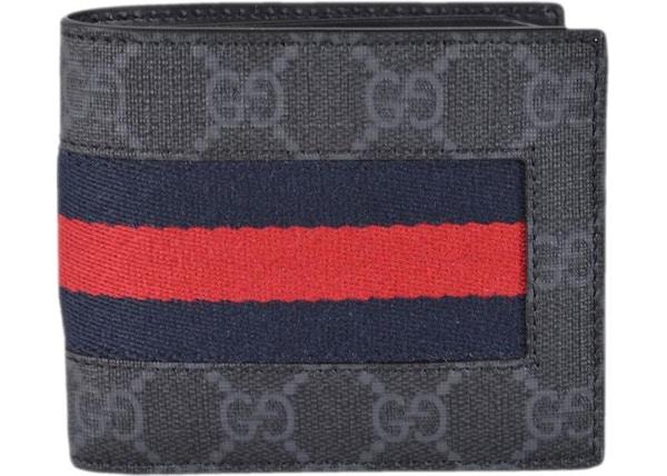 9933c839c6ac Gucci Bifold Wallet GG Supreme Web Black