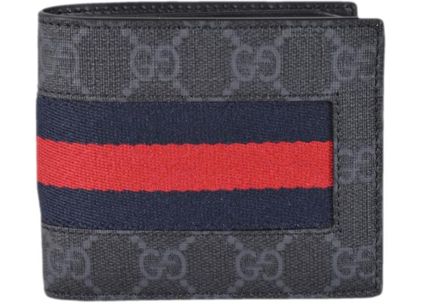 dc5b4c0c2235 Gucci Bifold Wallet GG Supreme Web Black