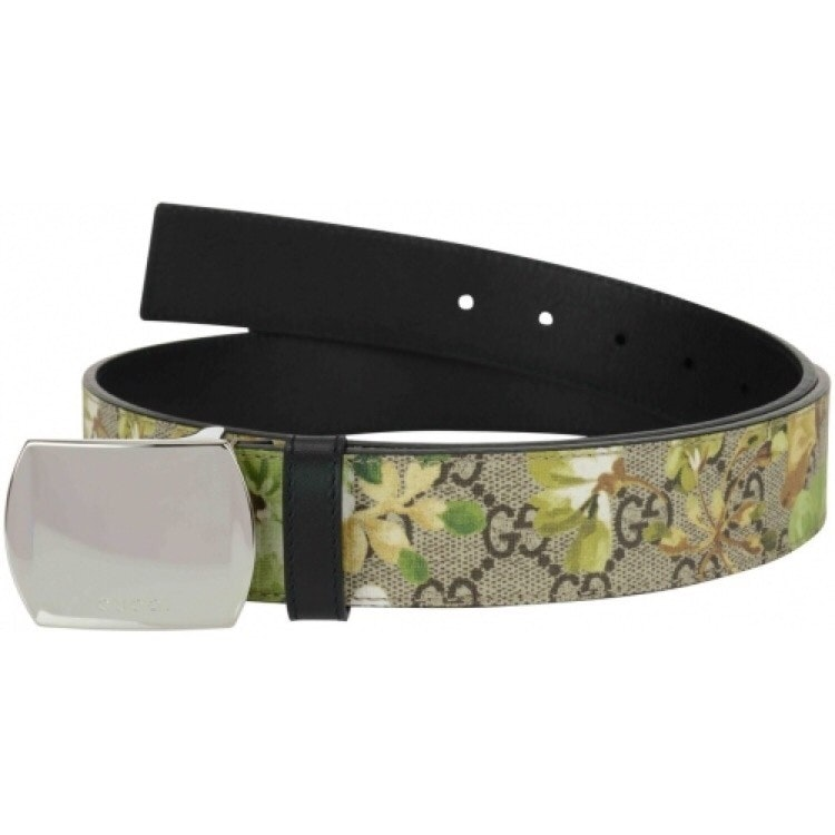 Gucci Bloom Belt Supreme GG Green Floral Beige/Brown