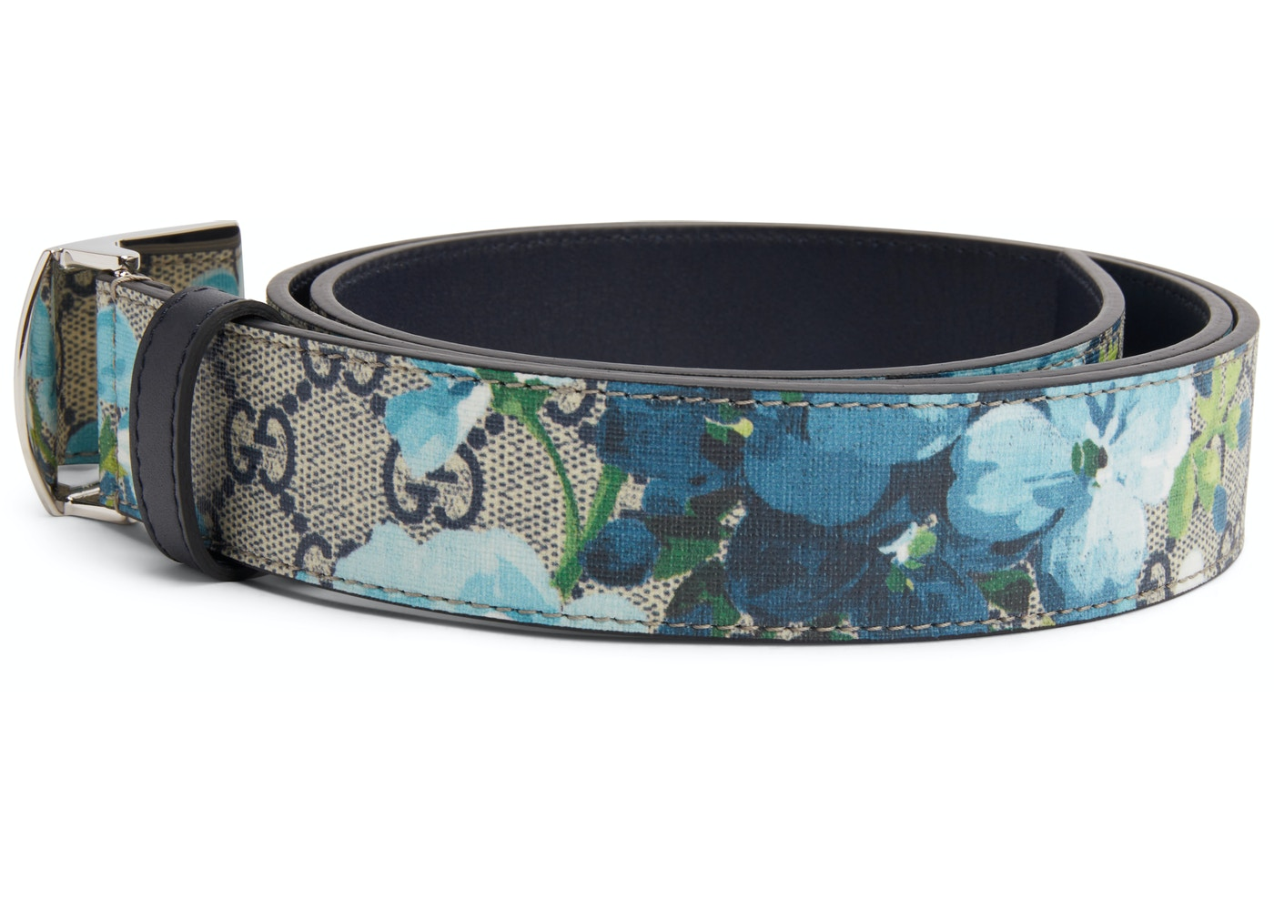 8cf66ef3ba4 Gucci Bloom Floral Belt Supreme GG Blue Brown Multicolor