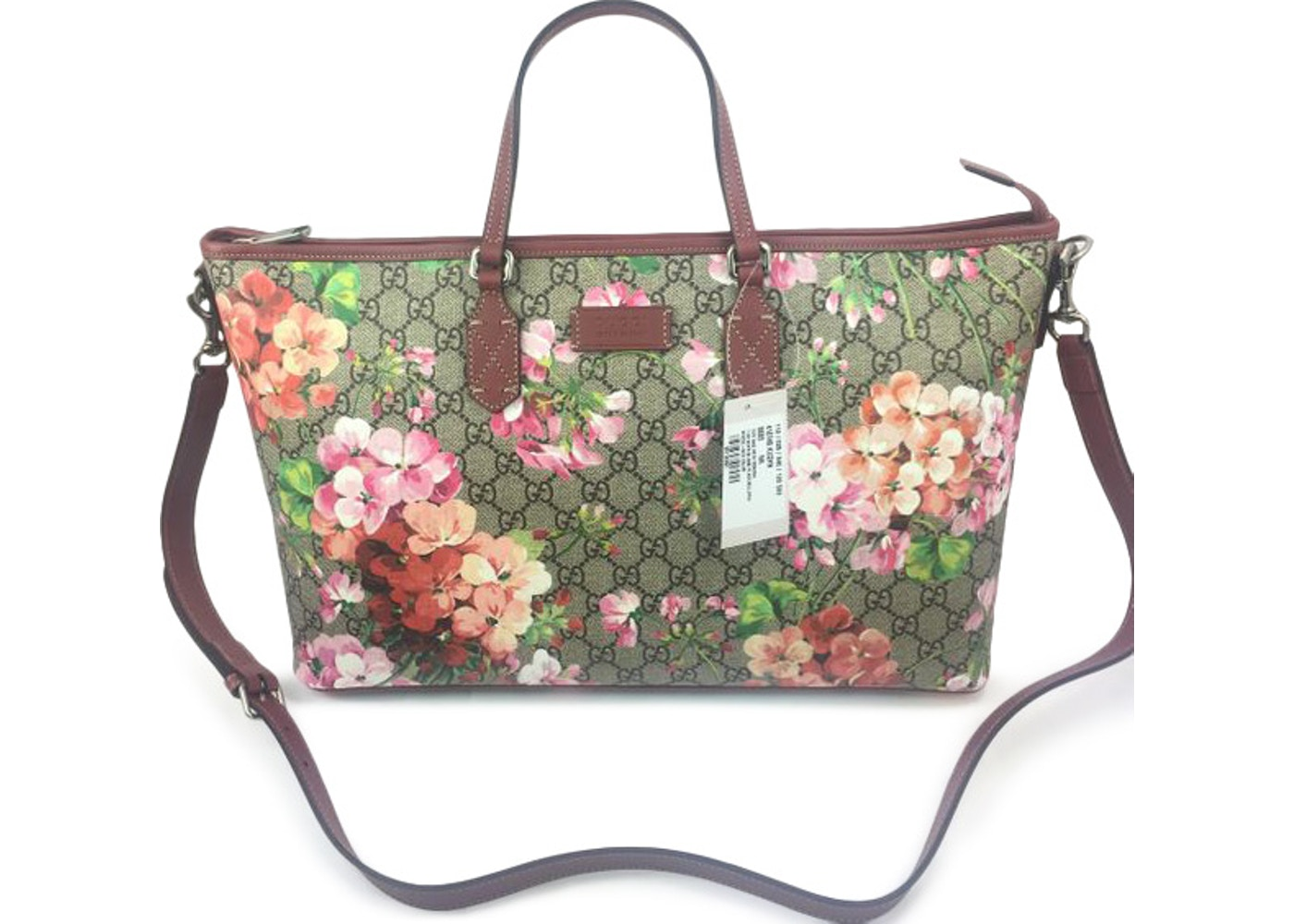 a70a3b4e1bd Gucci Bloom Floral Tote Supreme GG (With Strap) Pink/Brown Multicolor