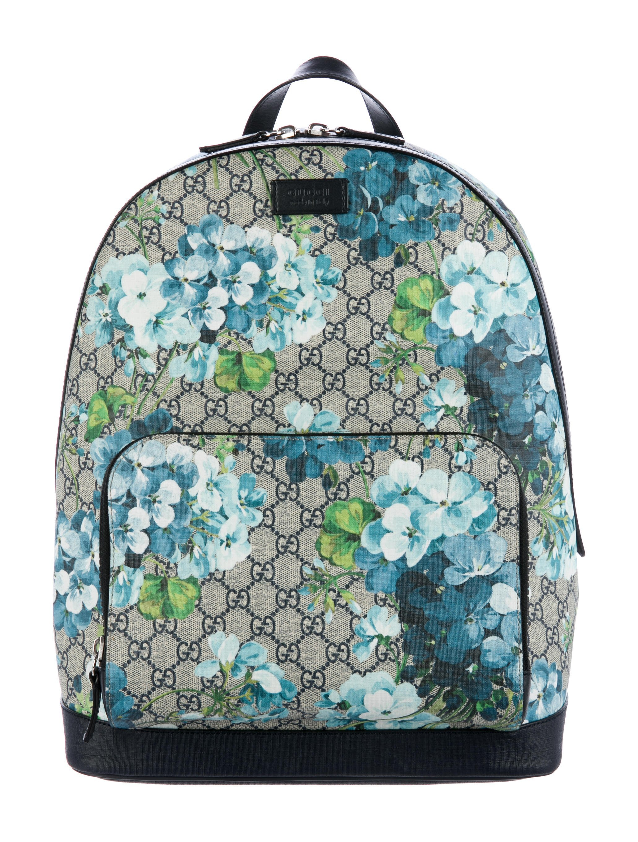 Gucci Blooms Backpack GG Supreme Blue