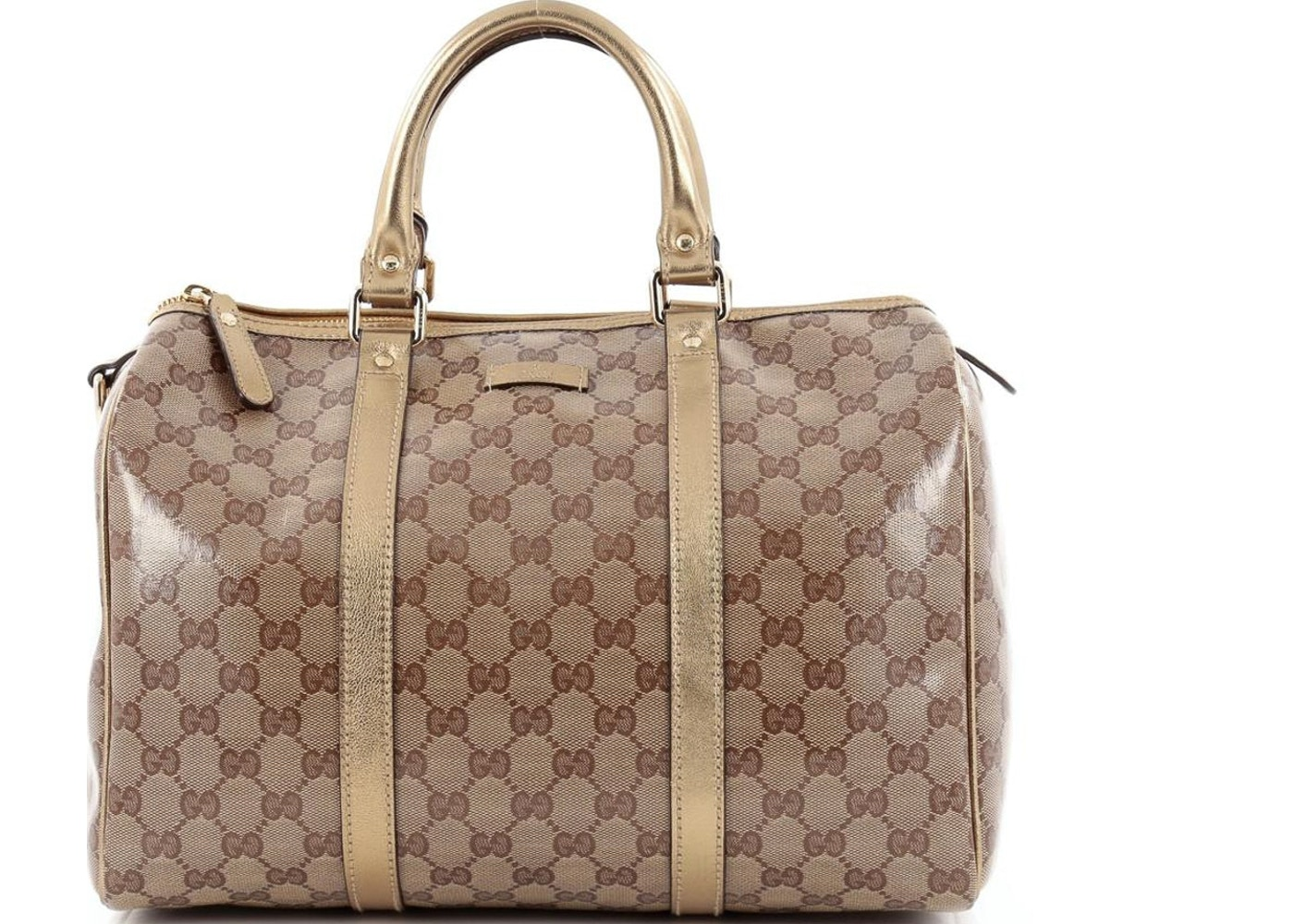 cd38dcb84 Gucci Boston Bag Joy GG Monogram Medium Metallic Gold. GG Monogram Medium Metallic  Gold