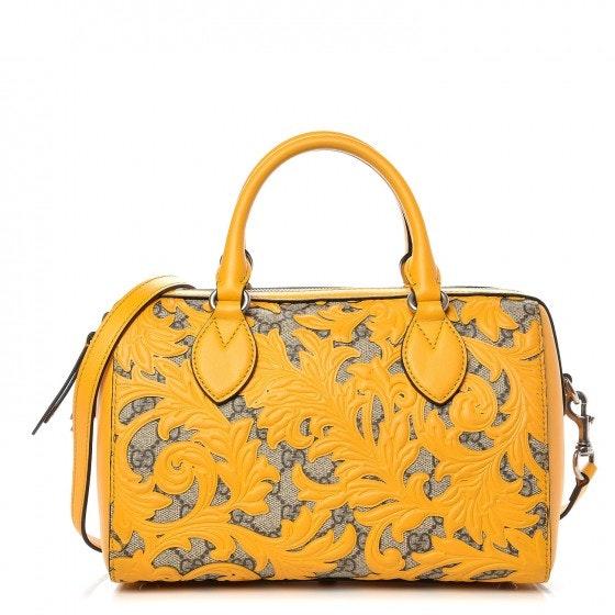 Gucci Boston Top Handle GG Supreme Arabesque Small Yellow