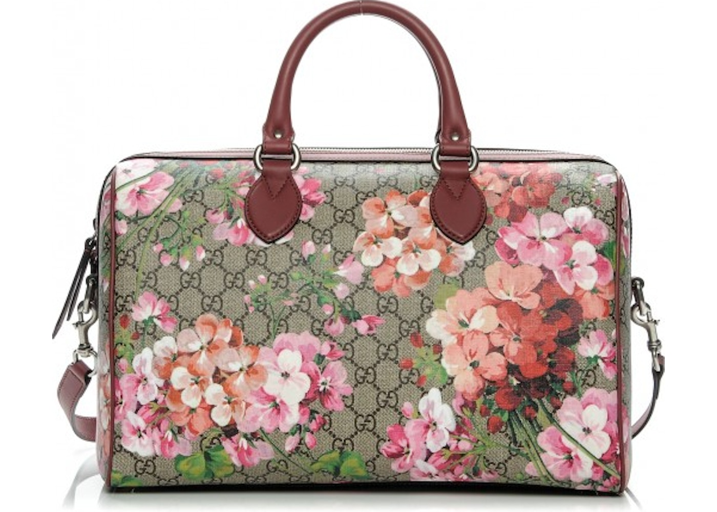 12ee1a3ff23df5 Gucci Top Handle Boston Blooms GG Supreme Medium Antique Rose ...