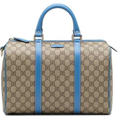 Gucci Boston Top Handle Supreme Monogram GG Blue Beige/Ebony