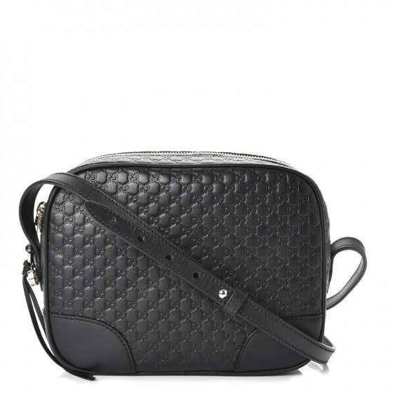 Gucci Bree Messenger MicroGuccissima Mini Black