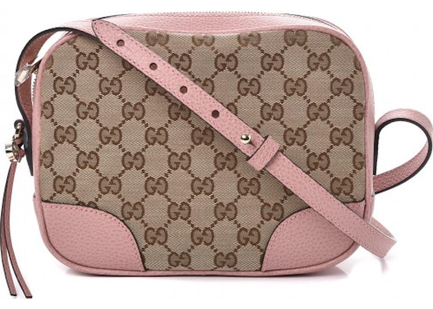 fbd90e929f Gucci Bree Messenger Monogram GG Mini Pink