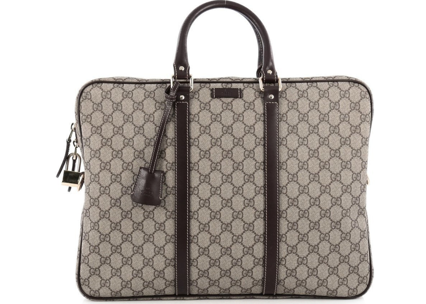 b843b90ca63 Sell. or Ask. View All Bids. Gucci Briefcase GG Supreme Large Brown