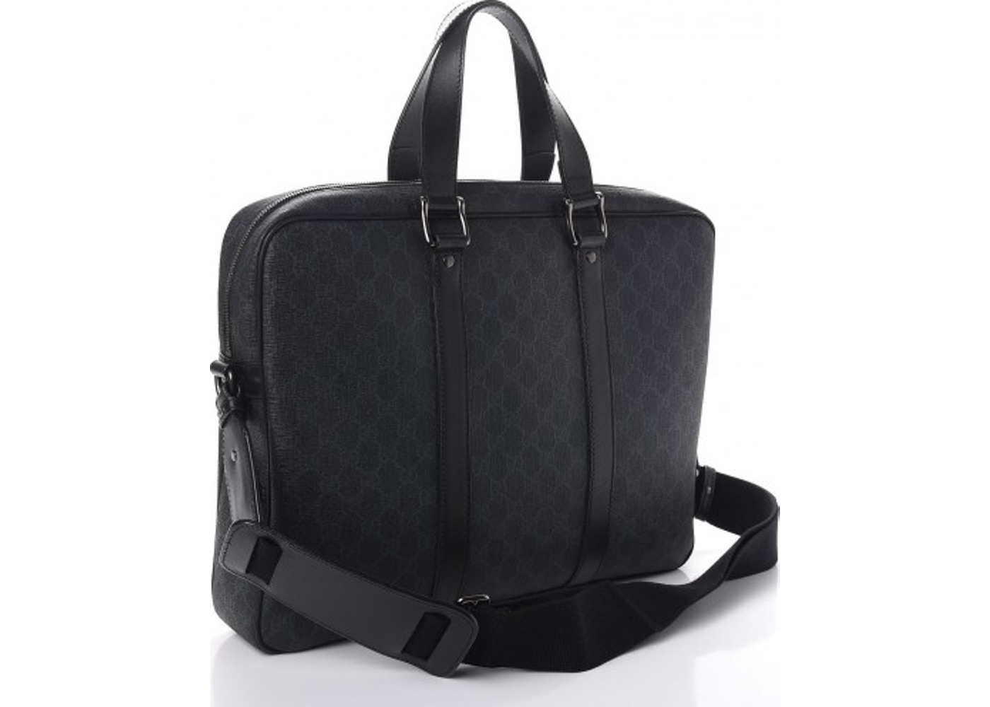 8e3c06fdfc20 Gucci Briefcase Monogram GG Supreme Black