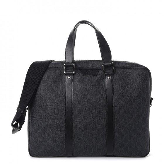 Gucci Briefcase Monogram GG Supreme Black