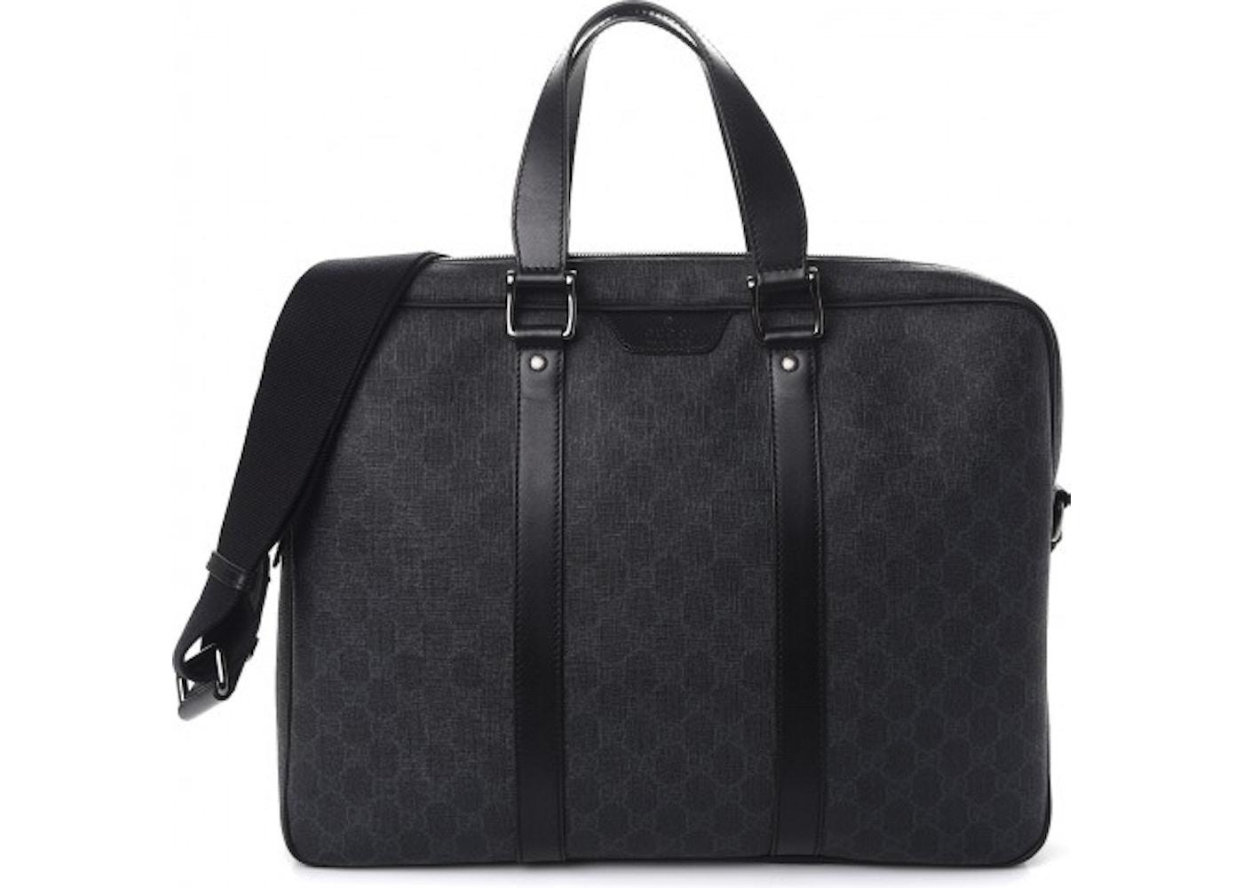 ad776b9609a7 Gucci Briefcase Monogram GG Supreme Black. Monogram GG Supreme Black