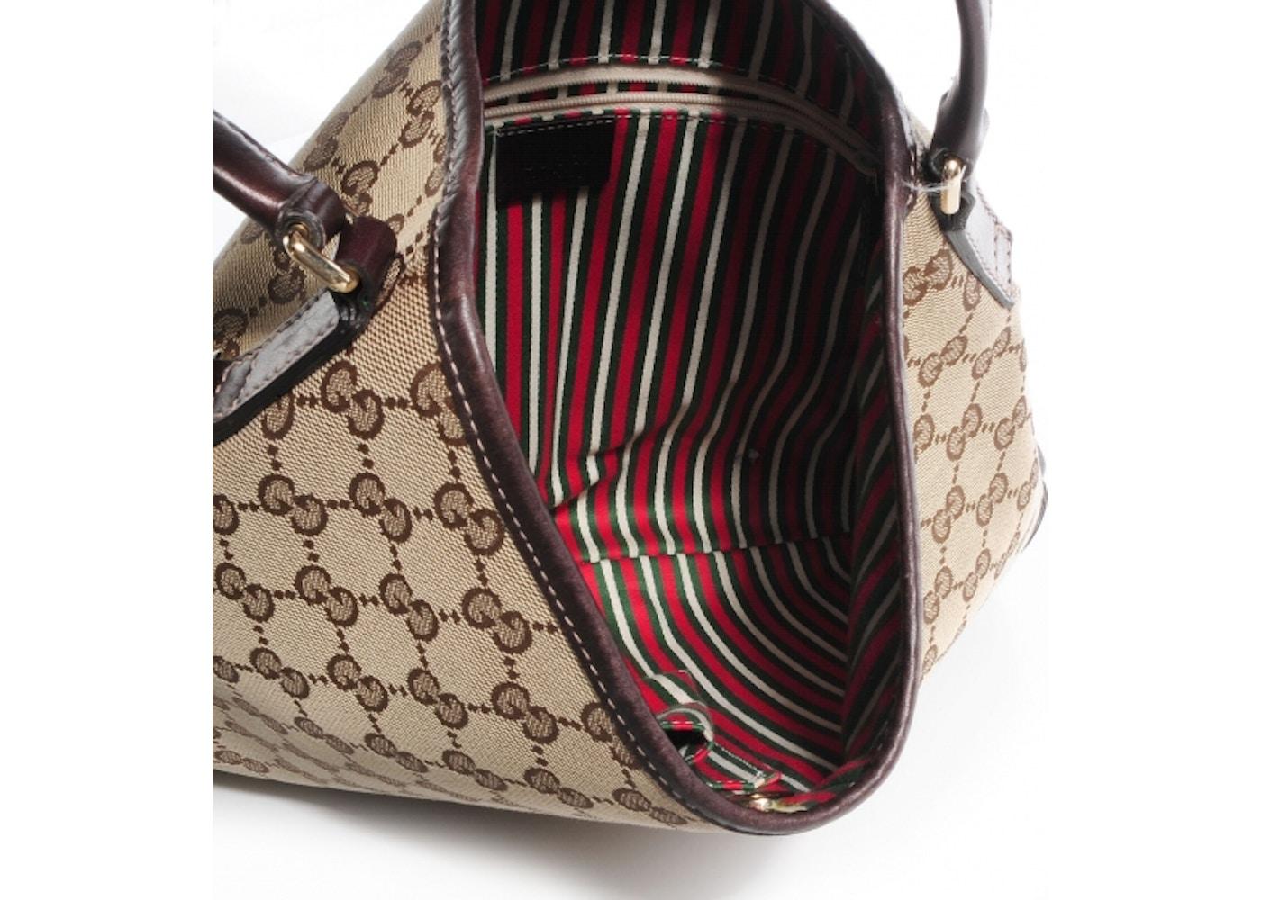 88f65e55f92 Gucci Britt Hobo GG Medium Brown