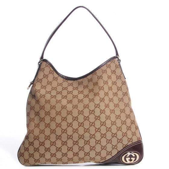 Gucci Britt Hobo GG Medium Brown