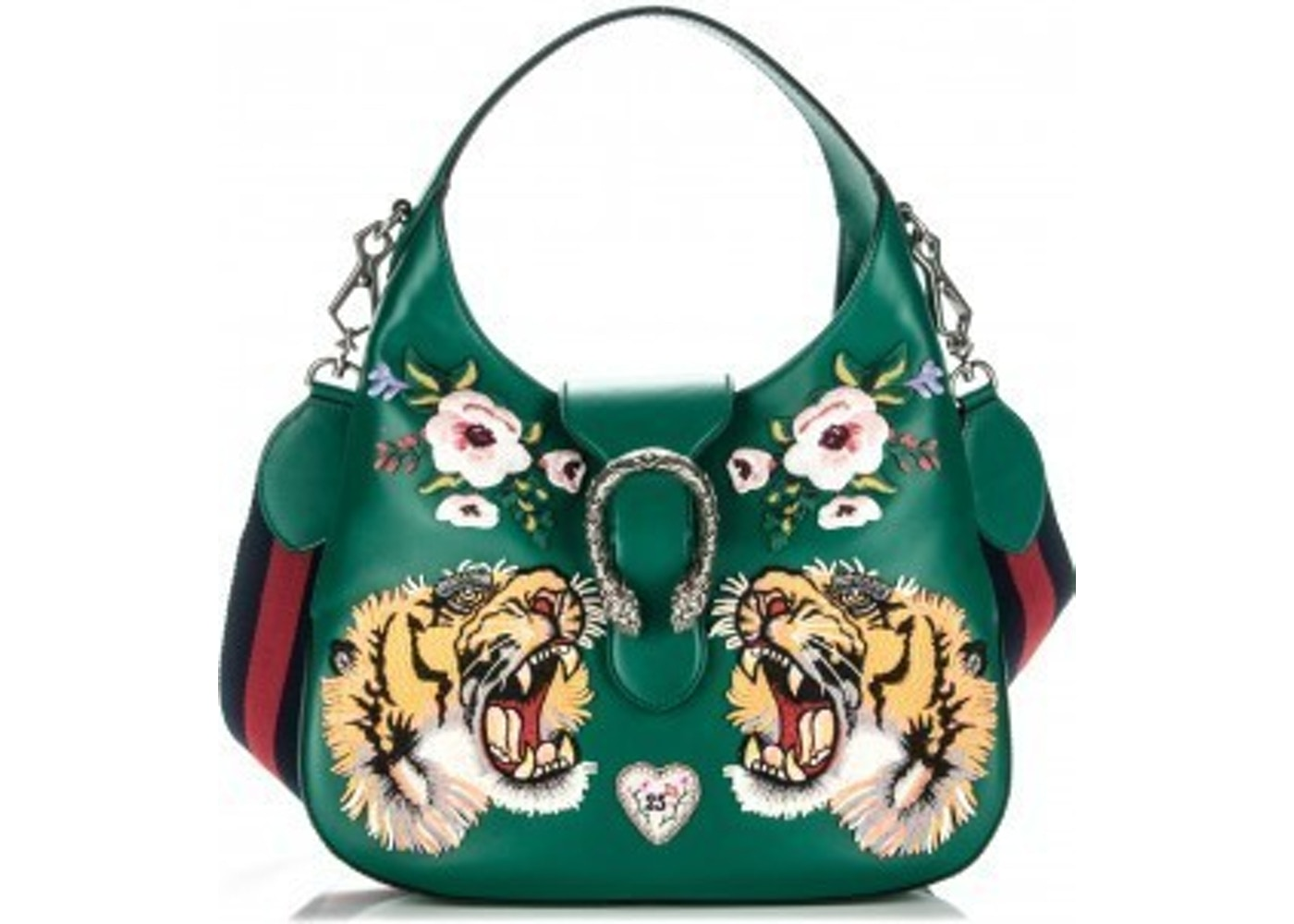 e45583c8d046 Gucci Dionysus Shoulder Embroidered Dionysus Hobo Small Green