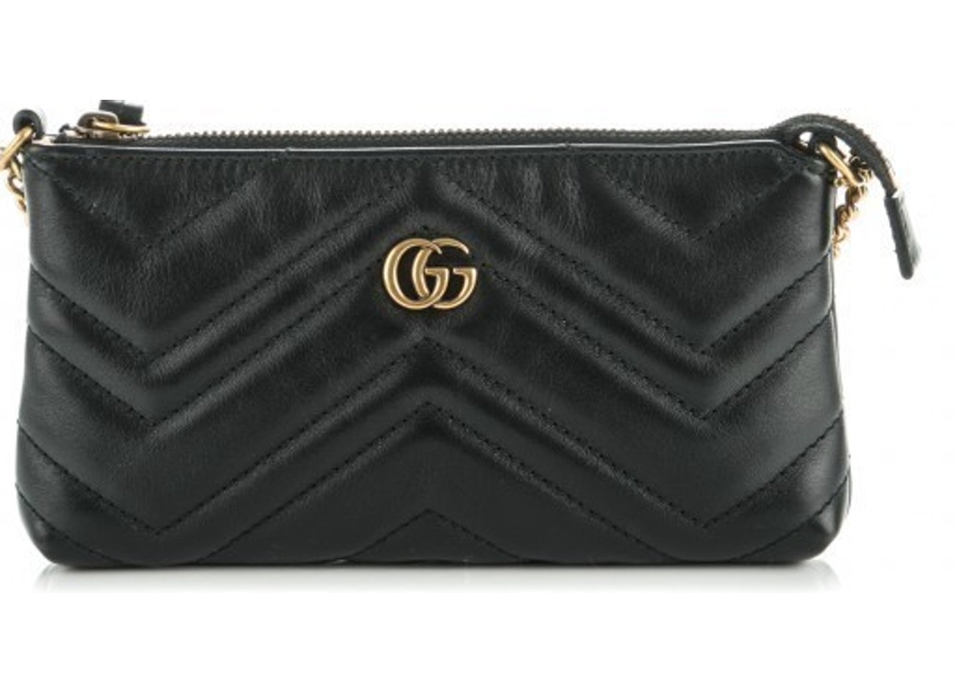 bb8bab4ce2b259 Gucci Marmont Chain Bag Matelasse Mini. Matelasse Mini