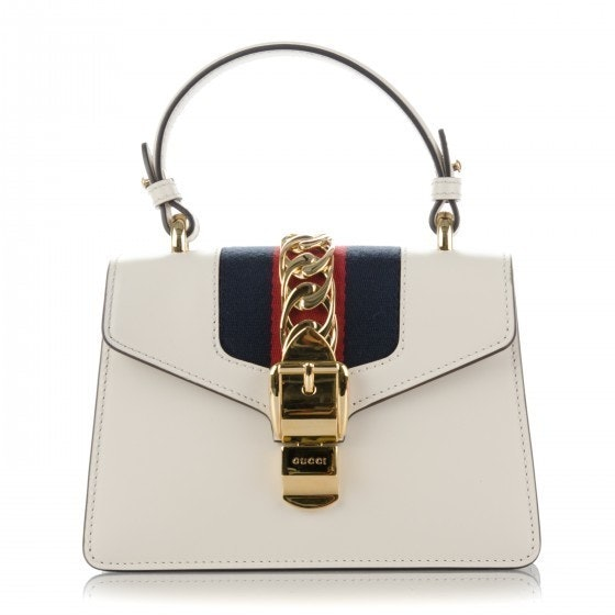 Gucci Sylvie Shoulder Mini White