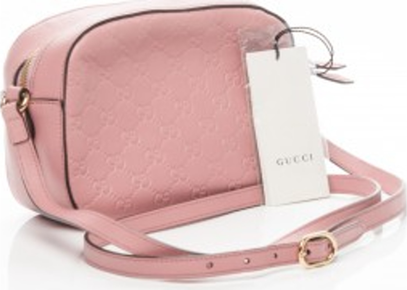 a50e8b55faa Gucci Camera Bag Crossbody Guccissima Small Pink
