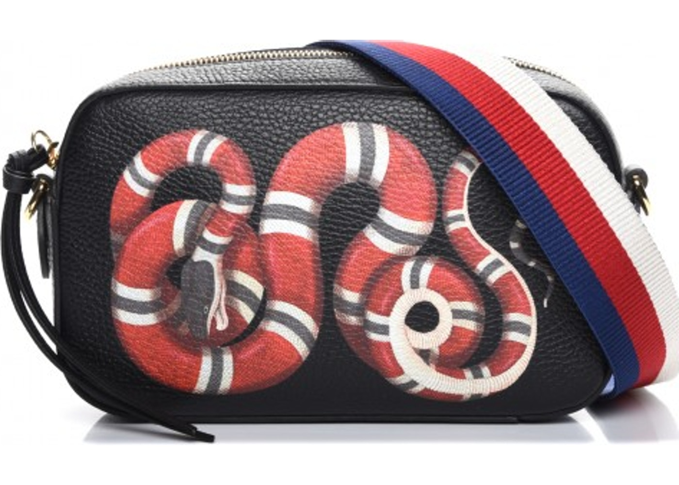 c045bb8dc81a Gucci Merveilles Camera Bag King Snake Print Small Black/Red/Blue ...