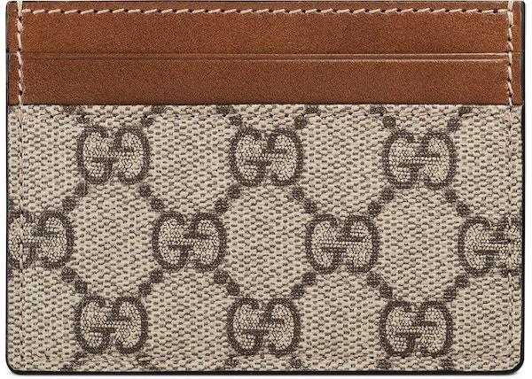 d5d03c151c7f Gucci Card Case GG Supreme Mini Beige/Ebony Light Brown
