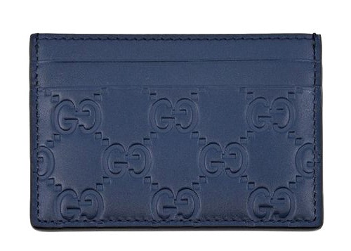 Gucci Card Case Guccissima Blue