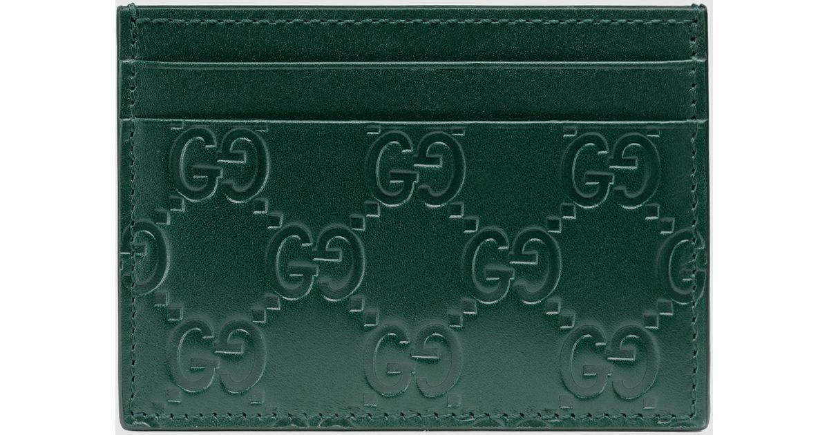 Gucci Card Case Guccissima Green