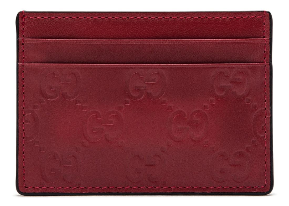 Gucci Card Case Guccissima Red