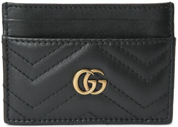 a8b4f7c4656 Gucci Marmont Card Case Matelasse Black