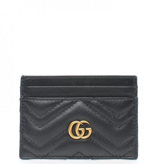 Gucci Marmont Card Case Matelasse Black