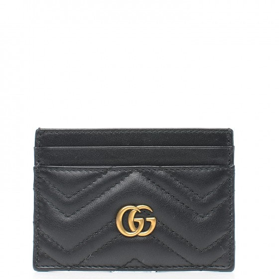 Gucci Marmont Card Case Matelasse Black