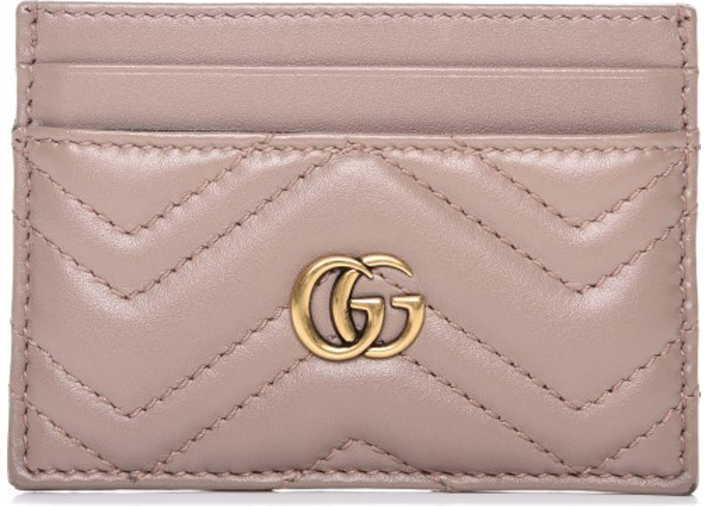 150954e83 Gucci Marmont Card Case Monogram Matelasse GG Dusty Pink. Monogram Matelasse  GG Dusty Pink