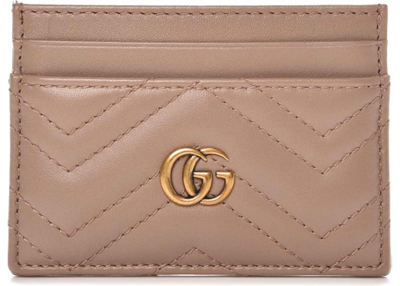 5c767f3a8 Gucci Marmont Card Case Monogram Matelasse GG Porcelain Rose. Monogram Matelasse  GG Porcelain Rose