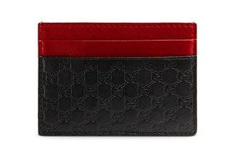 Gucci Card Case MicroGuccissima Black/Red/Green
