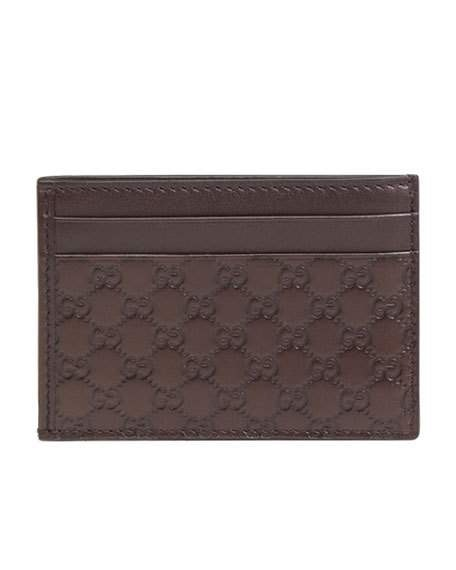 Gucci Card Case MicroGuccissima Brown