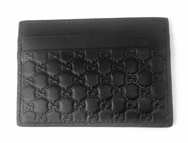 Gucci Card Case MicroGuccissima Nero