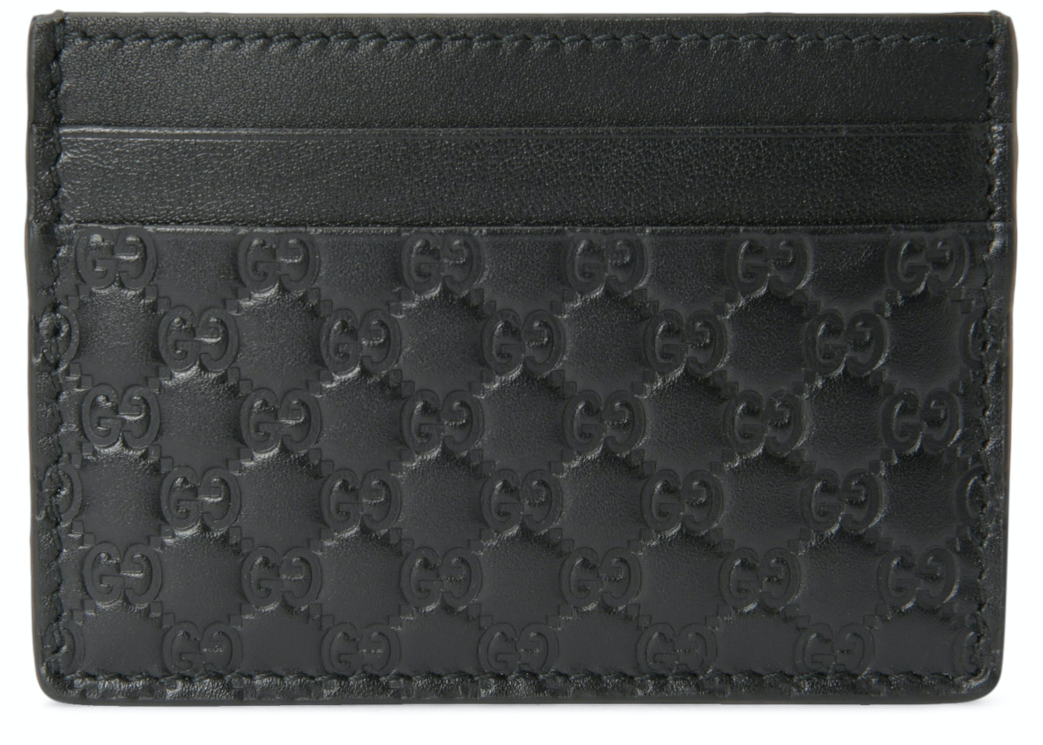 Gucci Card Case Microguccissima Black