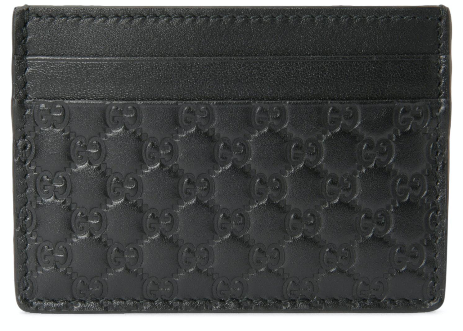 Gucci Card Case Microguccissima Black