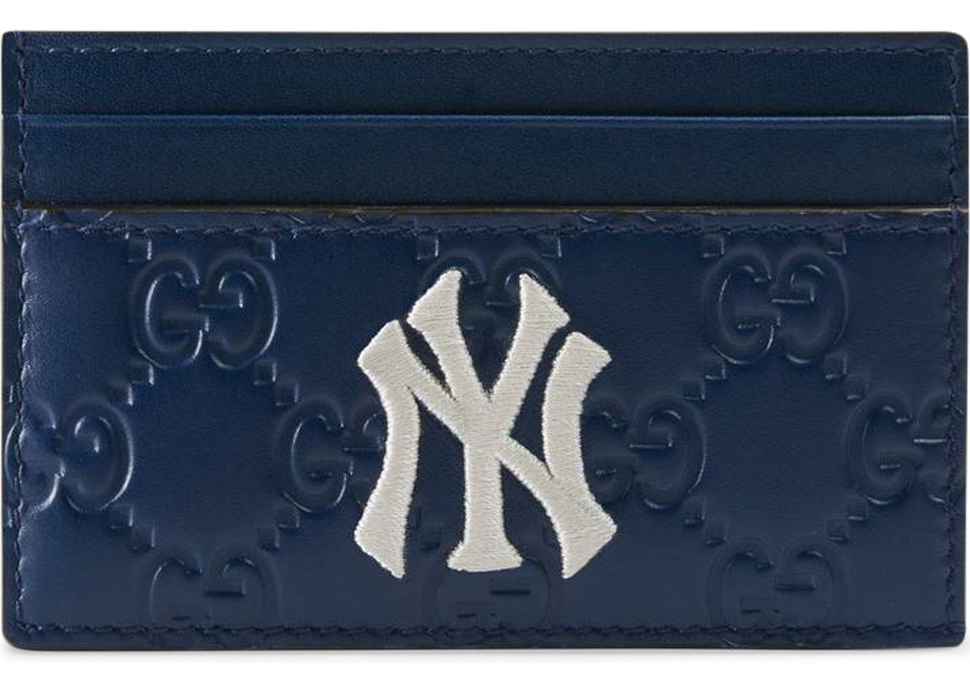 6fa232fcac68 Gucci Card Case NY Yankees Patch Royal Blue