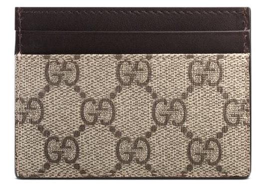 Gucci Card Case Supreme Brown