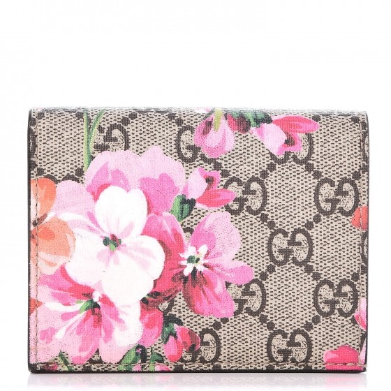 Gucci Wallet GG Supreme Blooms Pink