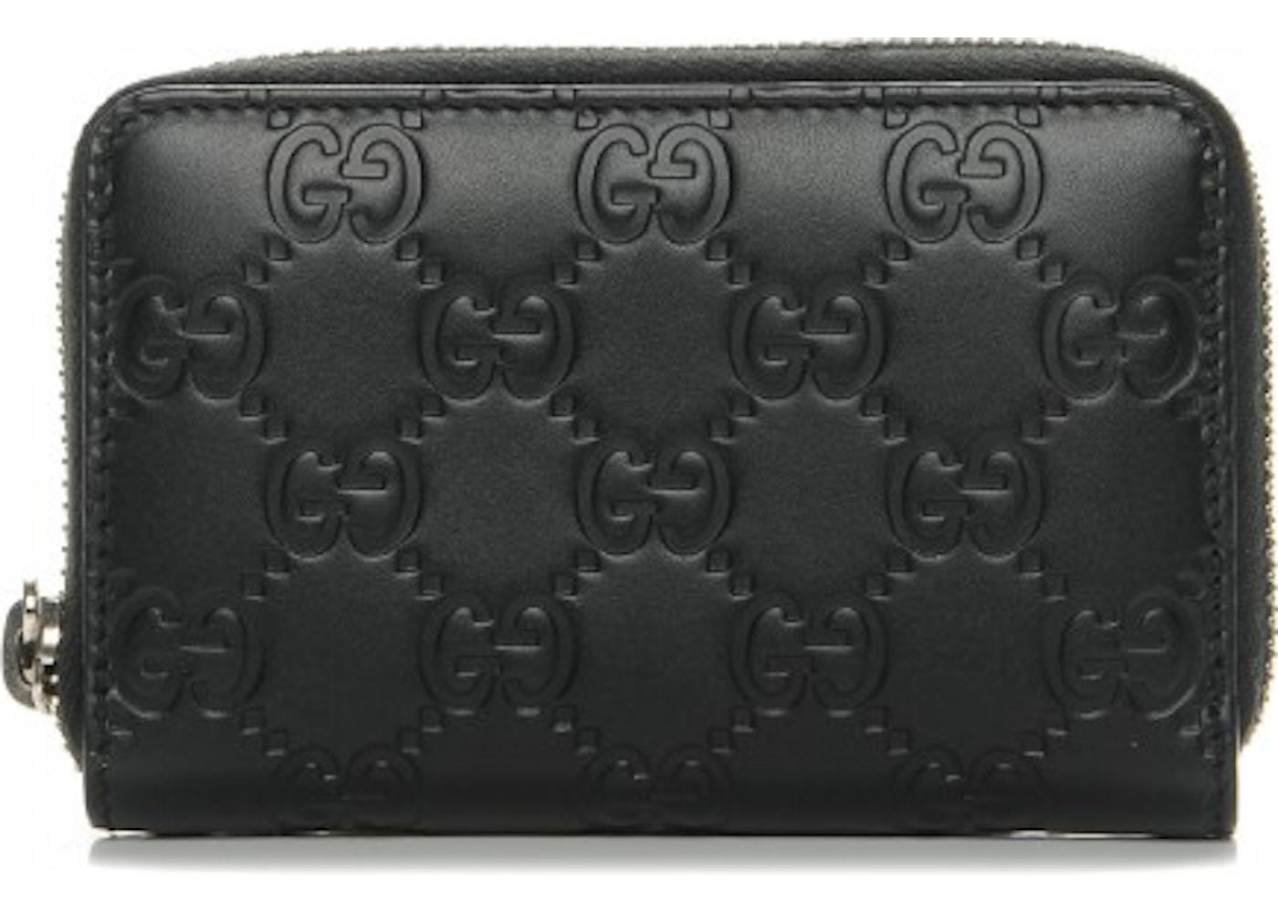 58baf7e593d Gucci Zip Around Card Case Monogram Guccissima Black. Monogram Guccissima  Black