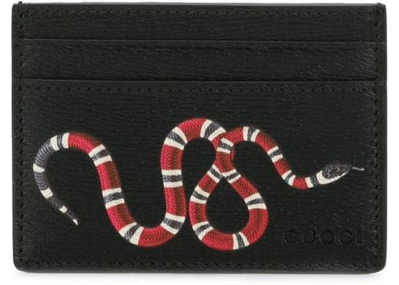 0324a65ac820 Gucci Card Holder Kingsnake Black. Kingsnake Black