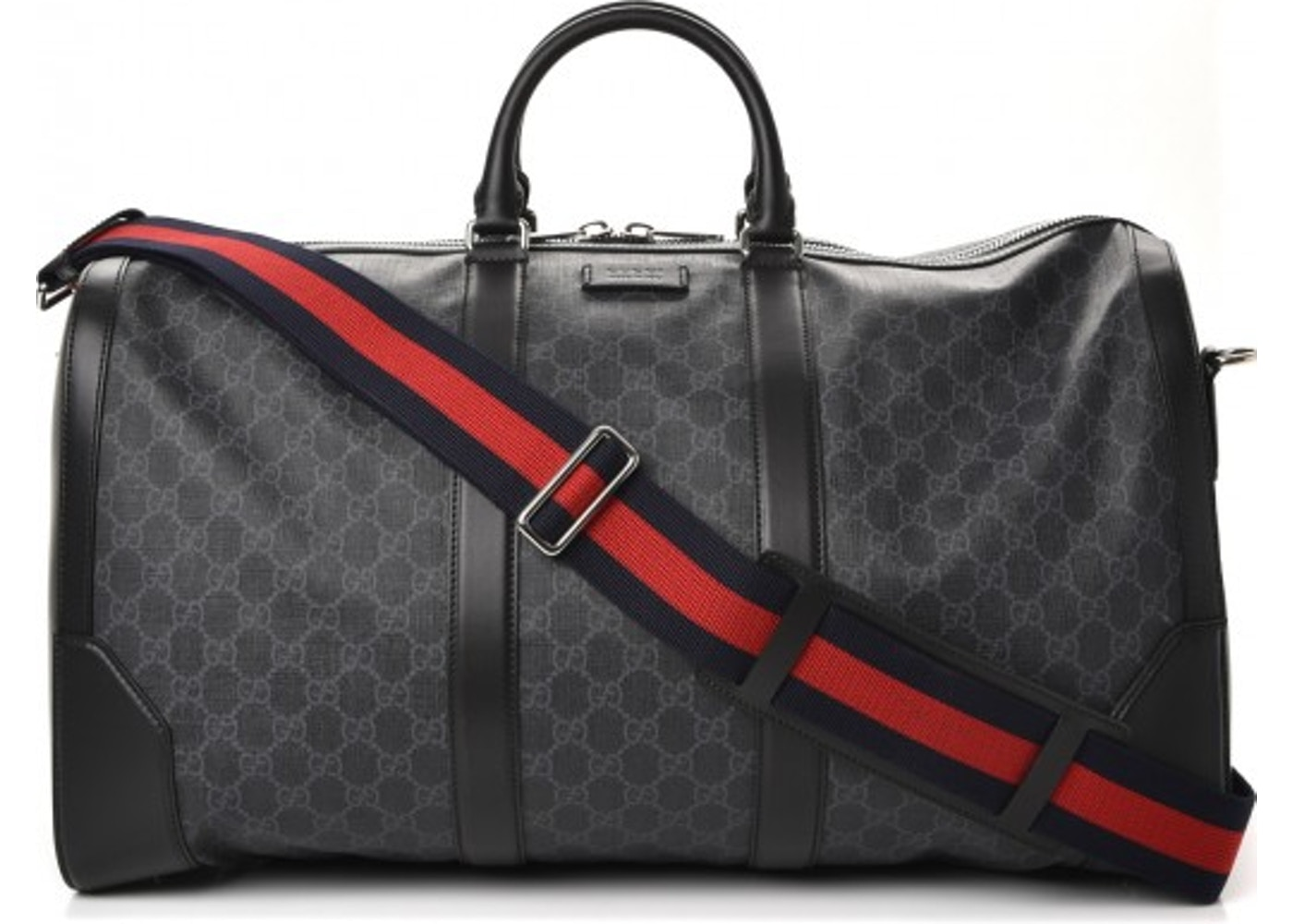 555c21652084 Gucci Carry On Duffle Monogram GG Supreme Black