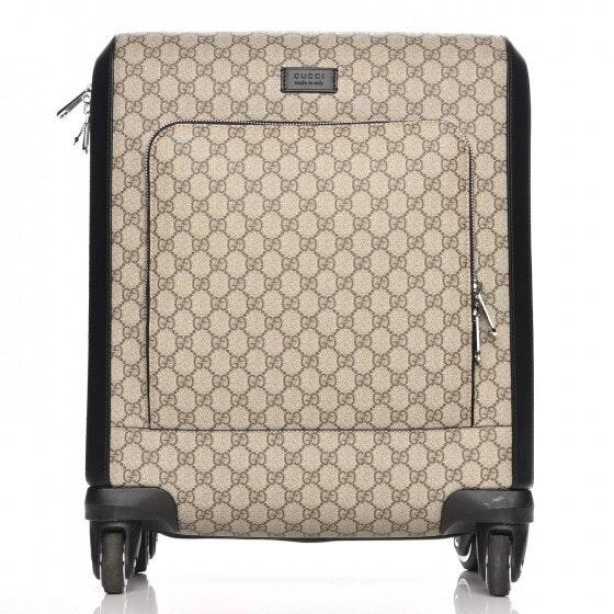 Gucci Trolley Carry On Monogram GG Supreme Black/Beige